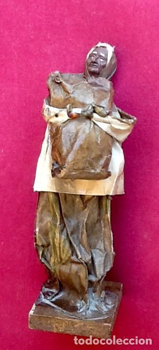 Antigüedades: PAPEL MACHÉ O CARTON PIEDRA. FIGURA - LAVANDERA - ENVIO CERTIFICADO INCLUIDO EN EL PRECIO. - Foto 8 - 99094287
