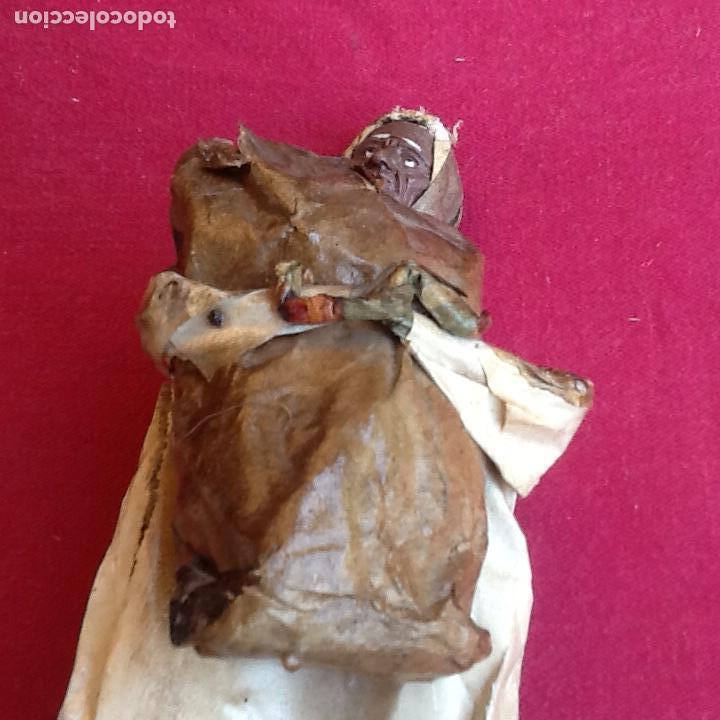 Antigüedades: PAPEL MACHÉ O CARTON PIEDRA. FIGURA - LAVANDERA - ENVIO CERTIFICADO INCLUIDO EN EL PRECIO. - Foto 9 - 99094287