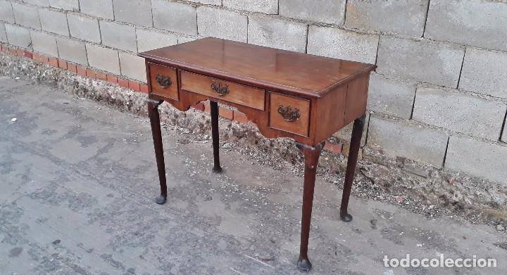 Antigüedades: Escritorio antiguo estilo americano, mueble mesa auxiliar antigua consola retro vintage - Foto 3 - 99111511