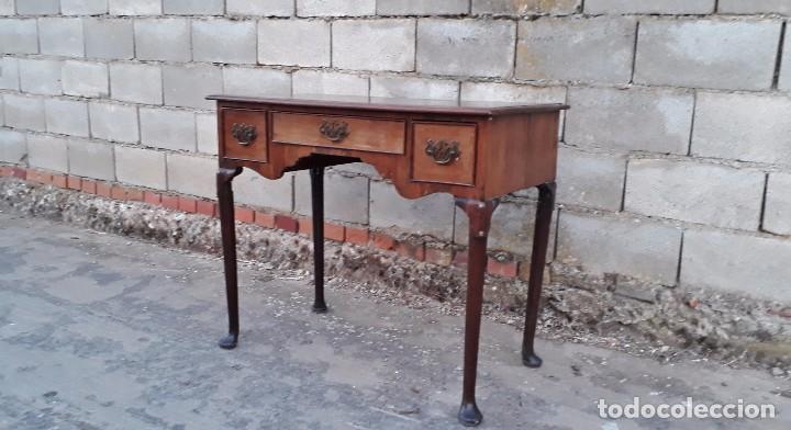 Antigüedades: Mesa antigua estilo chippendale. Pequeño escritorio antiguo estilo inglés victoriano. - Foto 4 - 99111511