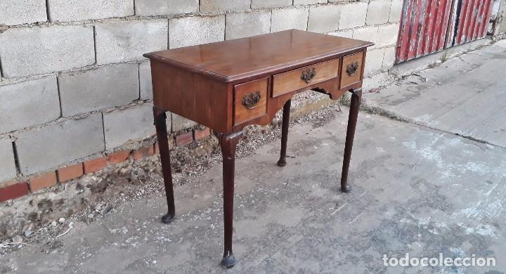 Antigüedades: Mesa antigua estilo chippendale. Pequeño escritorio antiguo estilo inglés victoriano. - Foto 5 - 99111511