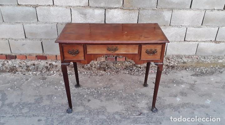 Antigüedades: Escritorio antiguo estilo americano, mueble mesa auxiliar antigua consola retro vintage - Foto 6 - 99111511