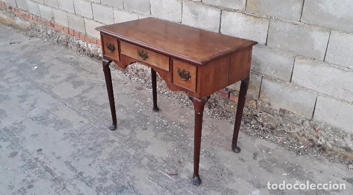 Antigüedades: Escritorio antiguo estilo americano, mueble mesa auxiliar antigua consola retro vintage - Foto 8 - 99111511