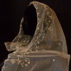 Antigüedades: ANTIGUA MANTILLA DE NOVIA - ENCAJE DE CADENETA PPIO.S.XX. Lote 99105623