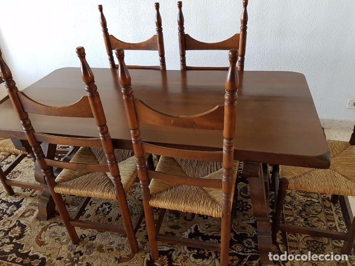 conjunto comedor rústico mesa madera maciza con - Comprar Mesas ...