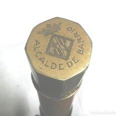 Antigüedades: BASTON VARA DE MANDO ALCALDE DE BARRIO BARCELONA. MED. 91 CM. Lote 99157287