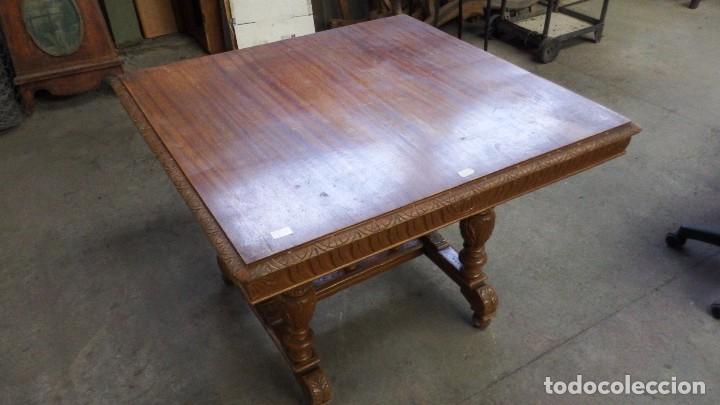 mesa cuadrada de comedor de roble. alfonsina - Kaufen Antike Tische ...
