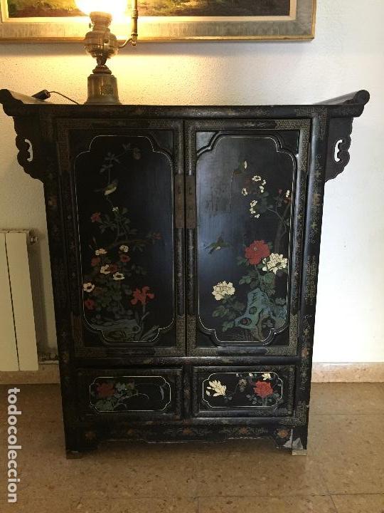 original mueble chino lacado en negro - Comprar Armarios Antiguos en ...