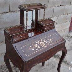 Antigüedades: SECRETER ANTIGUO, ESCRITORIO ANTIGUO ESTILO ISABELINO, BUREAU DE DAME TOCADOR ANTIGUO ESTILO LUIS XV. Lote 99188203