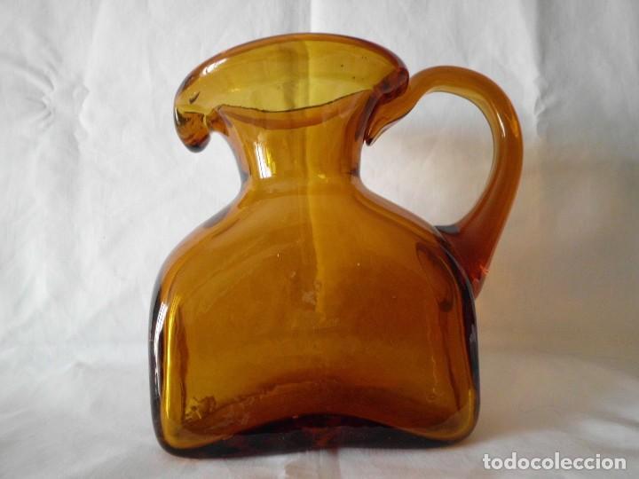 ANTIGUA JARRA CRISTAL SOPLADO CATALAN (Antigüedades - Cristal y Vidrio - Catalán)