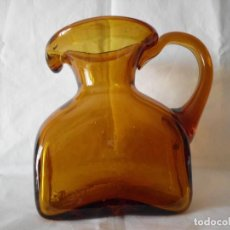 Antigüedades: ANTIGUA JARRA CRISTAL SOPLADO CATALAN. Lote 99190835