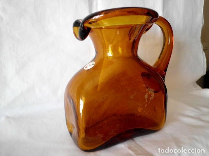 Antigüedades: ANTIGUA JARRA CRISTAL SOPLADO CATALAN - Foto 2 - 99190835