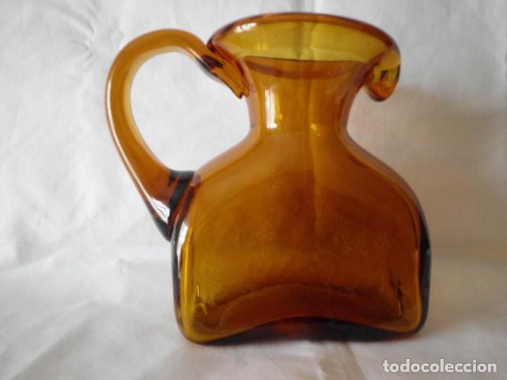 Antigüedades: ANTIGUA JARRA CRISTAL SOPLADO CATALAN - Foto 5 - 99190835