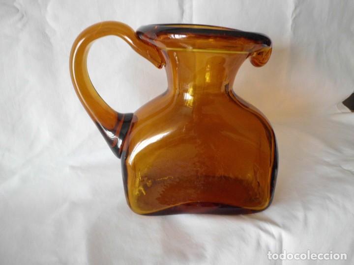Antigüedades: ANTIGUA JARRA CRISTAL SOPLADO CATALAN - Foto 7 - 99190835