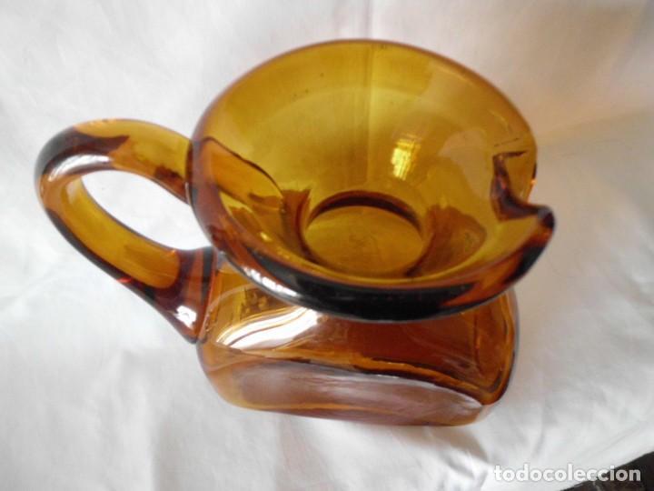 Antigüedades: ANTIGUA JARRA CRISTAL SOPLADO CATALAN - Foto 8 - 99190835