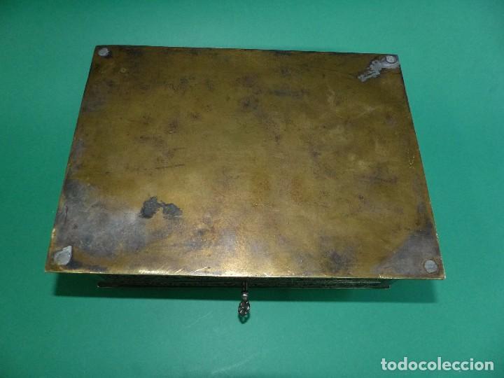 Antigüedades: ,,,JOYERO LABRADO BRONCE BAÑO DE PLATA,,,23 x 16 x 11 cm.,,, - Foto 7 - 99192459