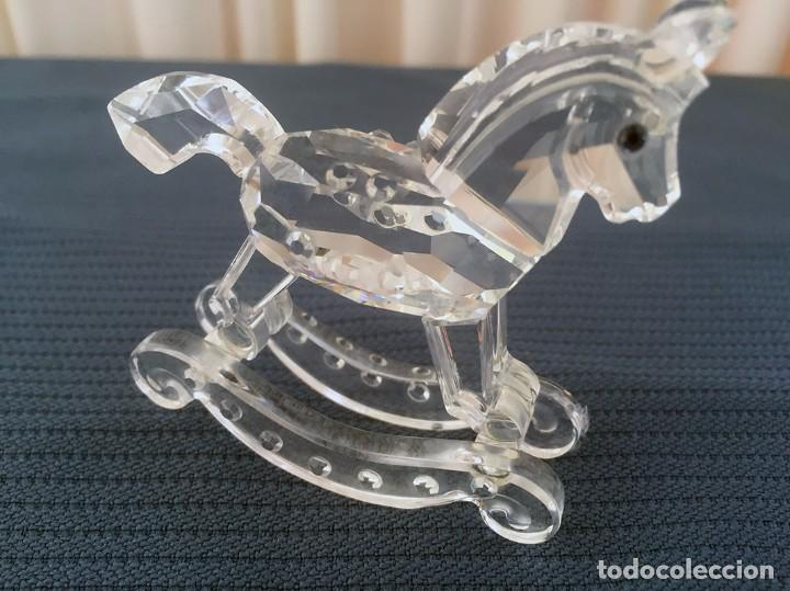 CABALLITO BALANCÍN CRYSTAL SWAROVSKI (Antigüedades - Cristal y Vidrio - Swarovski)