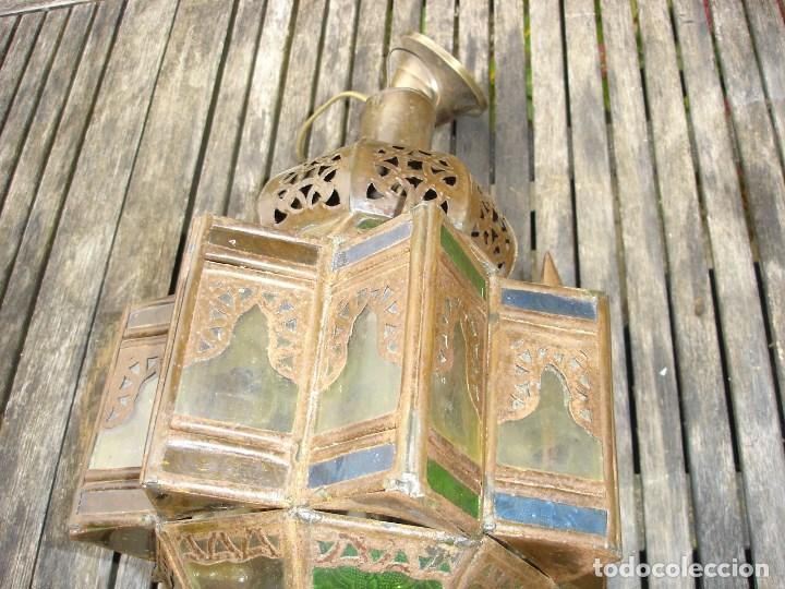 Antiquitäten: bonito farol de entrada de estilo marroqui en muy buen estado - Foto 2 - 99208575