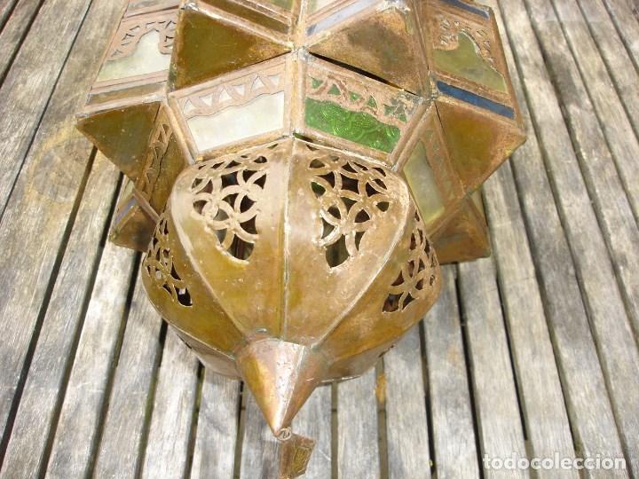 Antiquitäten: bonito farol de entrada de estilo marroqui en muy buen estado - Foto 3 - 99208575