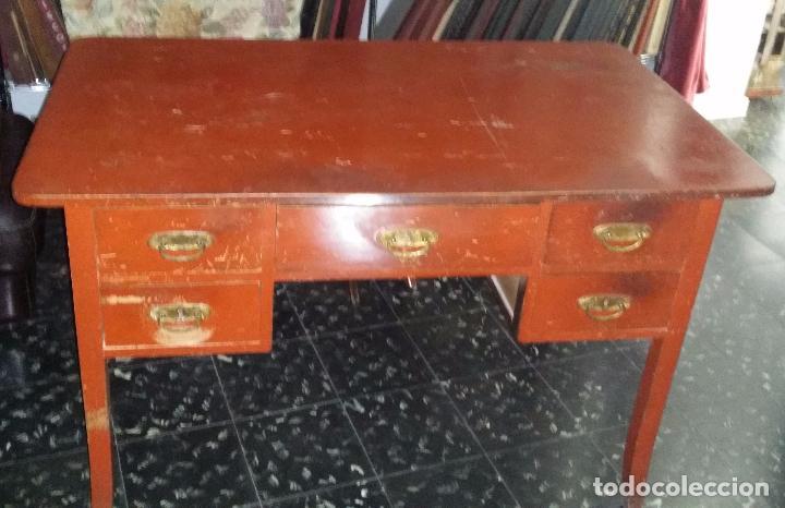 ANTIGUO ESCRITORIO MODERNISTA DE DOBLE VISTA (Antigüedades - Muebles Antiguos - Escritorios Antiguos)