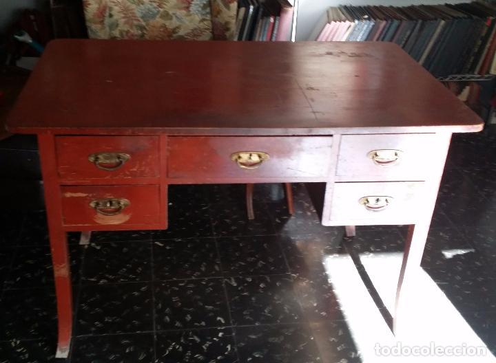 Antigüedades: Antiguo escritorio modernista de doble vista - Foto 2 - 99215319