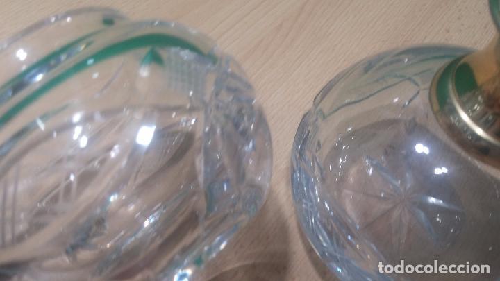 Antigüedades: Tres frascos de cristal grueso y pesado, lo tapones son de cristal macizo, parecen antiguos - Foto 11 - 99256303