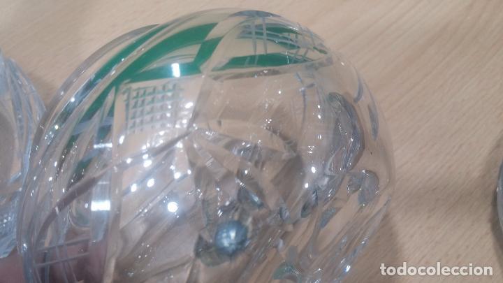 Antigüedades: Tres frascos de cristal grueso y pesado, lo tapones son de cristal macizo, parecen antiguos - Foto 12 - 99256303