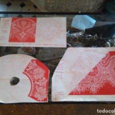 Antigüedades: LAMINA ENCAJE ENCAJES DE BOLILLO O RED - EL CONSULTOR DE BORDADOS AÑOS 20 VER MAS. Lote 99281515