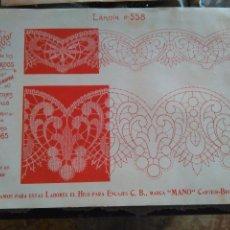 Antigüedades: LAMINA ENCAJE ENCAJES DE BOLILLO O RED - EL CONSULTOR DE BORDADOS AÑOS 20 VER MAS. Lote 99281627