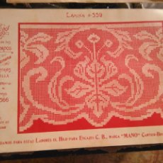 Antigüedades: LAMINA ENCAJE ENCAJES DE BOLILLO O RED - EL CONSULTOR DE BORDADOS AÑOS 20 VER MAS. Lote 99281643