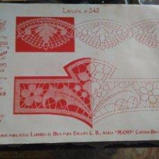 Antigüedades: LAMINA ENCAJE ENCAJES DE BOLILLO O RED - EL CONSULTOR DE BORDADOS AÑOS 20 VER MAS. Lote 99281683