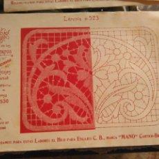 Antigüedades: LAMINA ENCAJE ENCAJES DE BOLILLO O RED - EL CONSULTOR DE BORDADOS AÑOS 20 VER MAS. Lote 99281723
