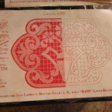 Antigüedades: LAMINA ENCAJE ENCAJES DE BOLILLO O RED - EL CONSULTOR DE BORDADOS AÑOS 20 VER MAS. Lote 99281907