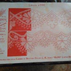 Antigüedades: LAMINA ENCAJE ENCAJES DE BOLILLO O RED - EL CONSULTOR DE BORDADOS AÑOS 20 VER MAS. Lote 99282055