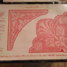 Antigüedades: LAMINA ENCAJE ENCAJES DE BOLILLO O RED - EL CONSULTOR DE BORDADOS AÑOS 20 VER MAS. Lote 99282107