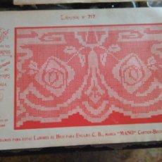 Antigüedades: LAMINA ENCAJE ENCAJES DE BOLILLO O RED - EL CONSULTOR DE BORDADOS AÑOS 20 VER MAS. Lote 99282183