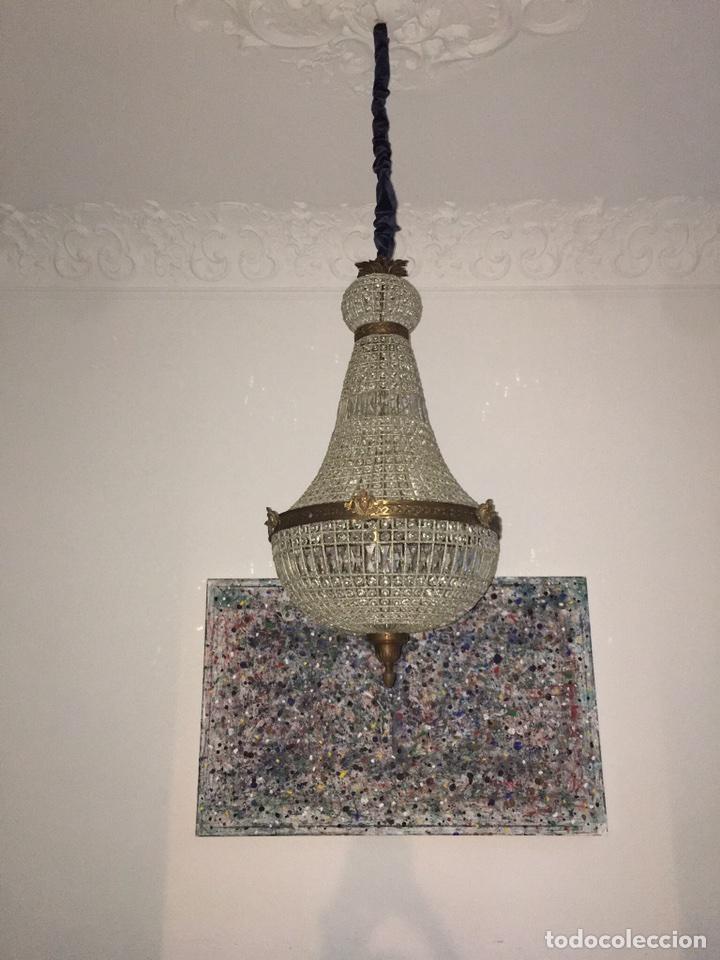 Lmpara chandelier antigua comprar lmparas antiguas en antigedades lmpara chandelier antigua foto 4 99297556 aloadofball Choice Image