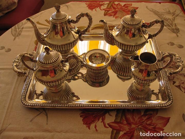 JUEGO DE CAFÉ DE PLATA DE LEY PEDRO DURAN GALLONES (Antigüedades - Platería - Plata de Ley Antigua)