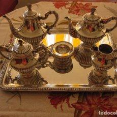 Antigüedades: JUEGO DE CAFÉ DE PLATA DE LEY PEDRO DURAN GALLONES. Lote 99305819