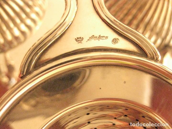 Antigüedades: Juego de café de plata de Ley pedro Duran Gallones - Foto 2 - 99305819