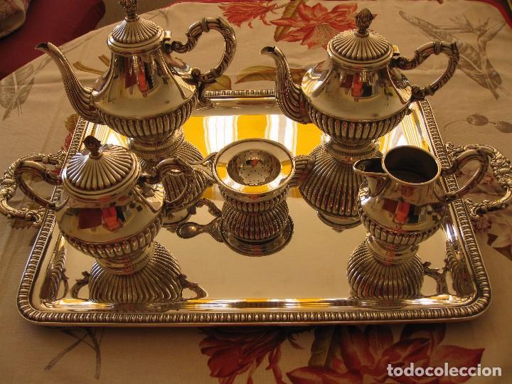 Antigüedades: Juego de café de plata de Ley pedro Duran Gallones - Foto 4 - 99305819