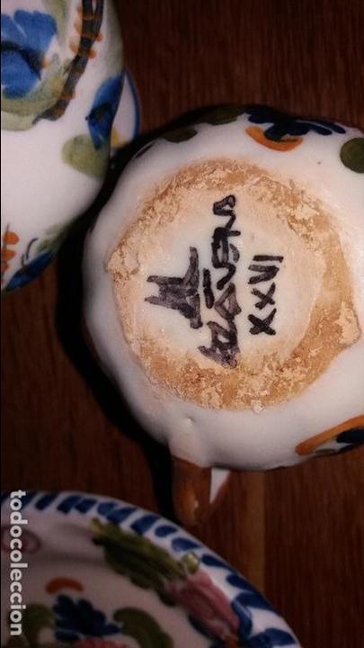 Antigüedades: juego de cafe talavera - Foto 3 - 99317311