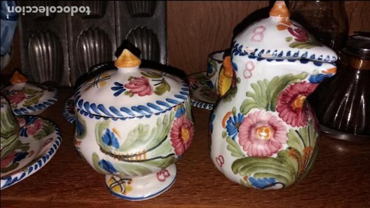 JUEGO DE CAFE TALAVERA (Antigüedades - Porcelanas y Cerámicas - Talavera)