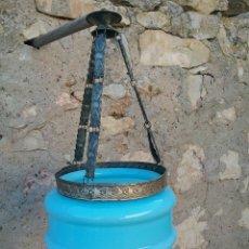 Antigüedades: ANTIGUA LAMPARA AZUL.. Lote 99318316