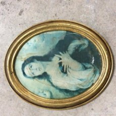 Antigüedades: CUADRO VIRGEN PINTADO SIGLO XIX. Lote 99322499
