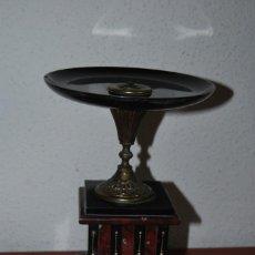 Antigüedades: PRECIOSO CENTRO DE MARMOL Y BRONCE - COPA - SEGUNDA MITAD SIGLO XIX. Lote 99346859