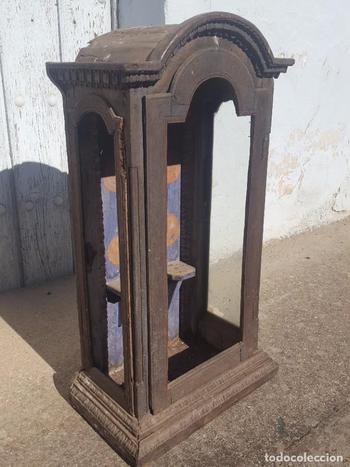 Antigüedades: Hornacina de roble s. XVIII - Foto 2 - 99348627