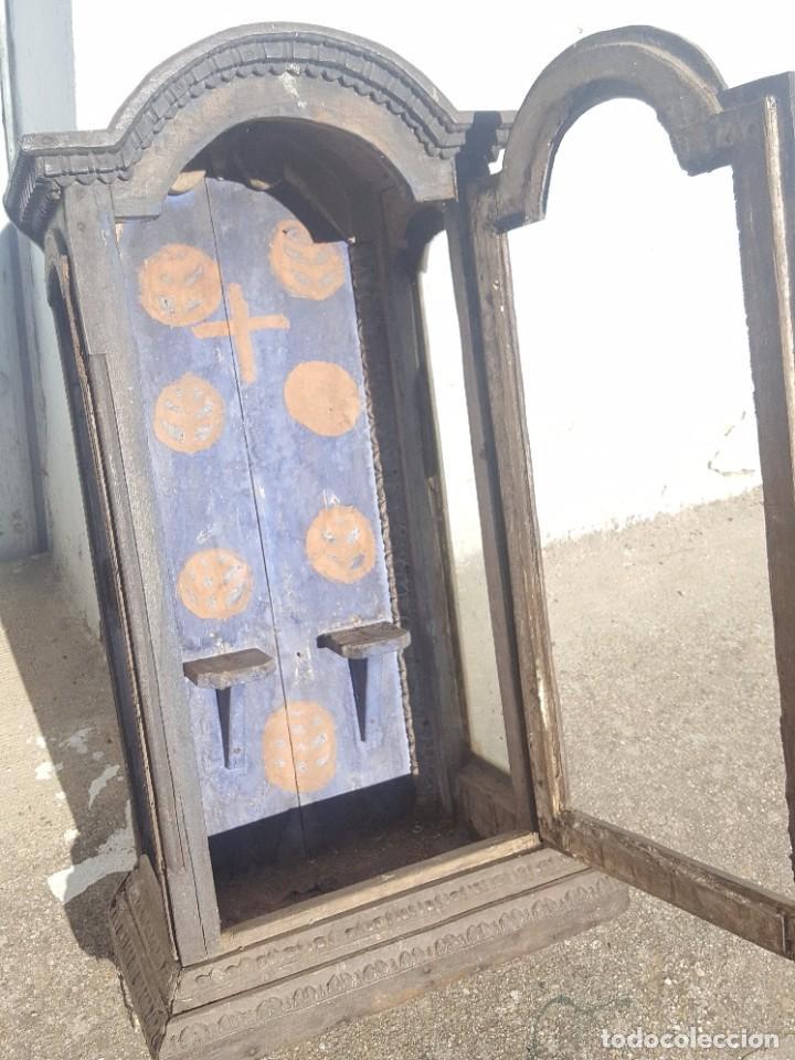 Antigüedades: Hornacina de roble s. XVIII - Foto 7 - 99348627