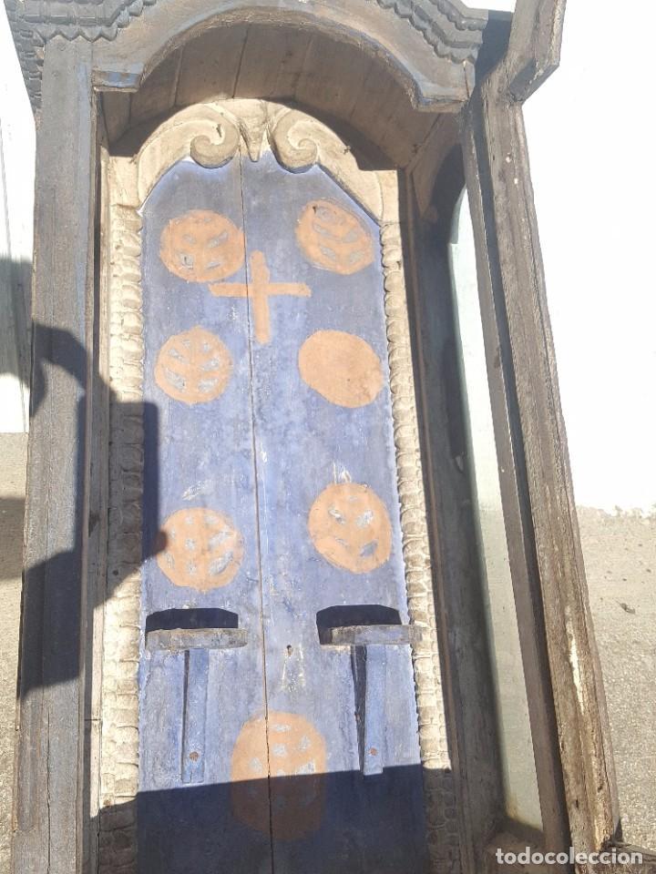 Antigüedades: Hornacina de roble s. XVIII - Foto 8 - 99348627