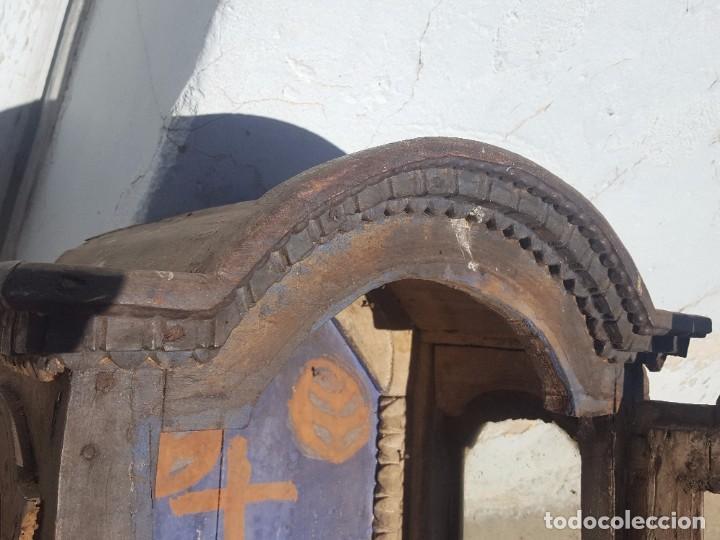 Antigüedades: Hornacina de roble s. XVIII - Foto 12 - 99348627